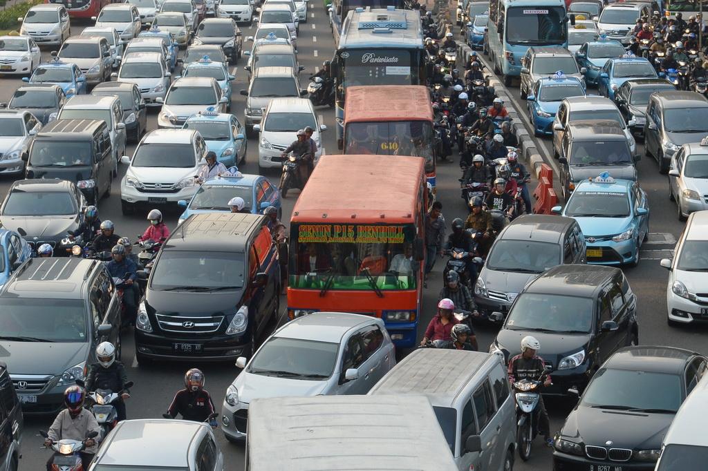 Indonésie Embouteillages