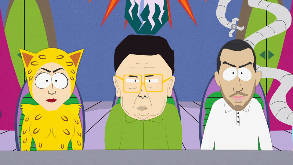 SOUTH PARK LEGION OF DOOM COREE DU NORD KIM