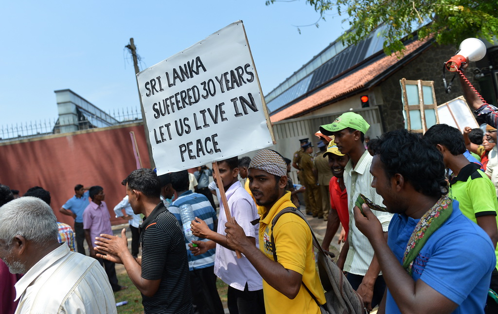 Photo de manifestation au Sri Lanka
