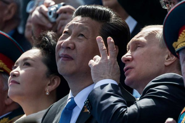 Photo de Xi Jinping avec Vladimir Poutine