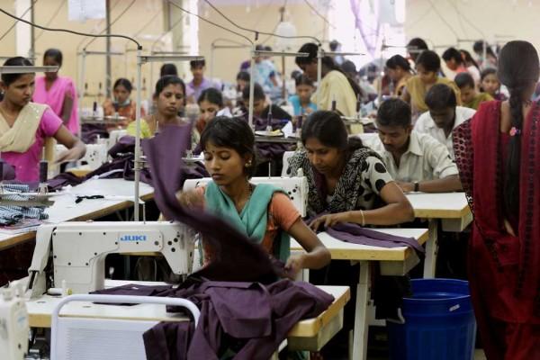 Photo d'ouvrières en Inde