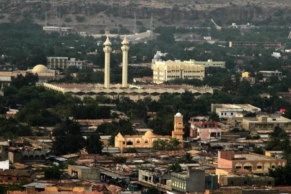 Vue aérienne de Bamako