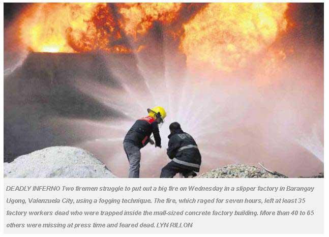 Copie écran Inquirer.net 14 mai 2015