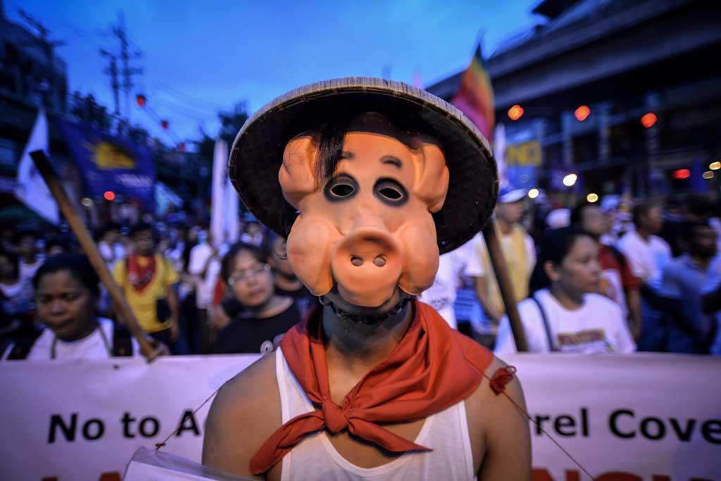 Photo du manifestant