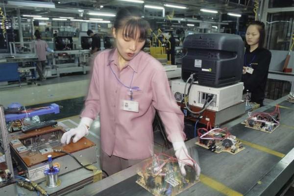 Photo d'une ouvrière en Corée du Sud