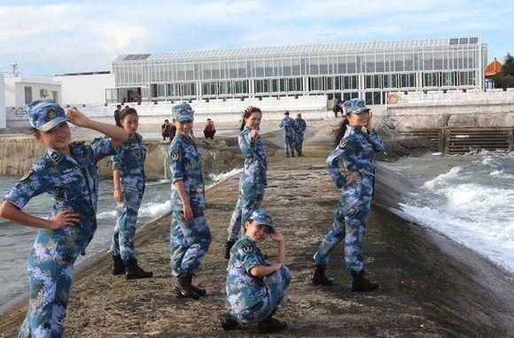 Photographie de marins chinois.