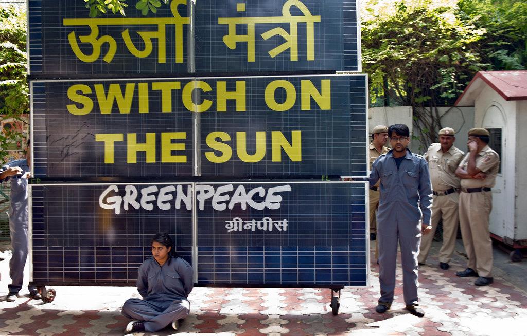 Photographie de militants de Greenpeace.