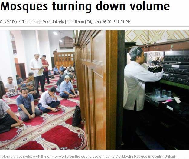 Capture d'écran du Jakarta Post.