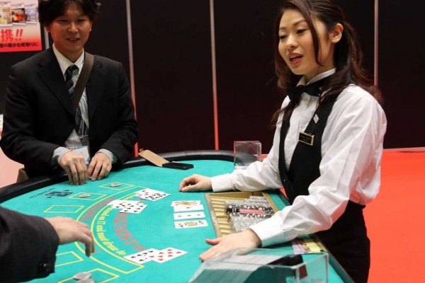 Photo d'une table de BlackJack au Japon