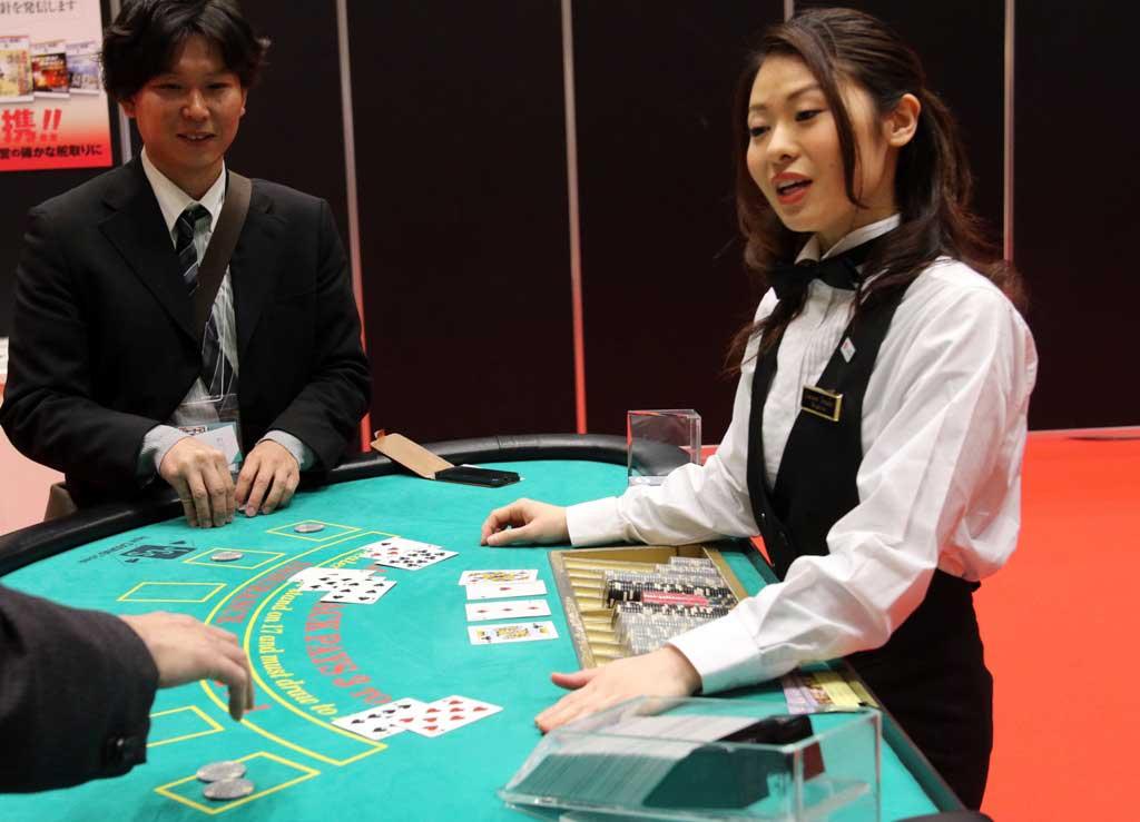 Photo d'une table de BlackJack au Japon