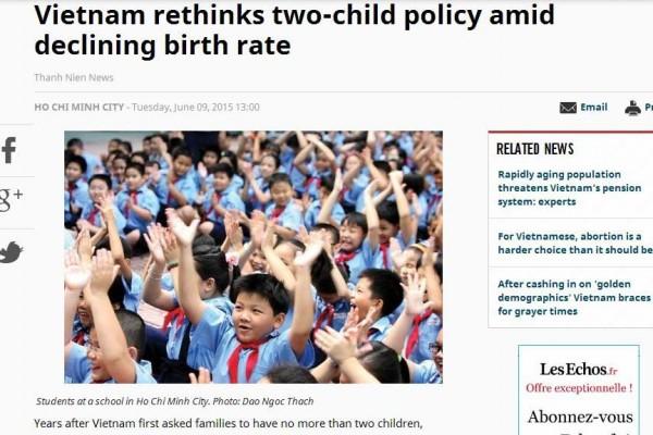 Capture écran du Thanh Nien News le 9 juin 2015.
