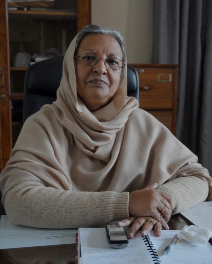 Sarah Safdar, directrice du département de Sociologie de l'Université de Peshawar