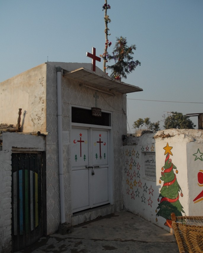 Chapelle dans la Christian colony à Peshawar