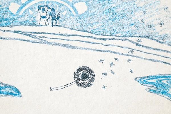 "Image de la pochette de CD du duo folk mongol Tulegur, ""Wind Grass Sound"""