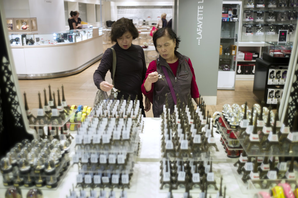 Photo de touristes chinois