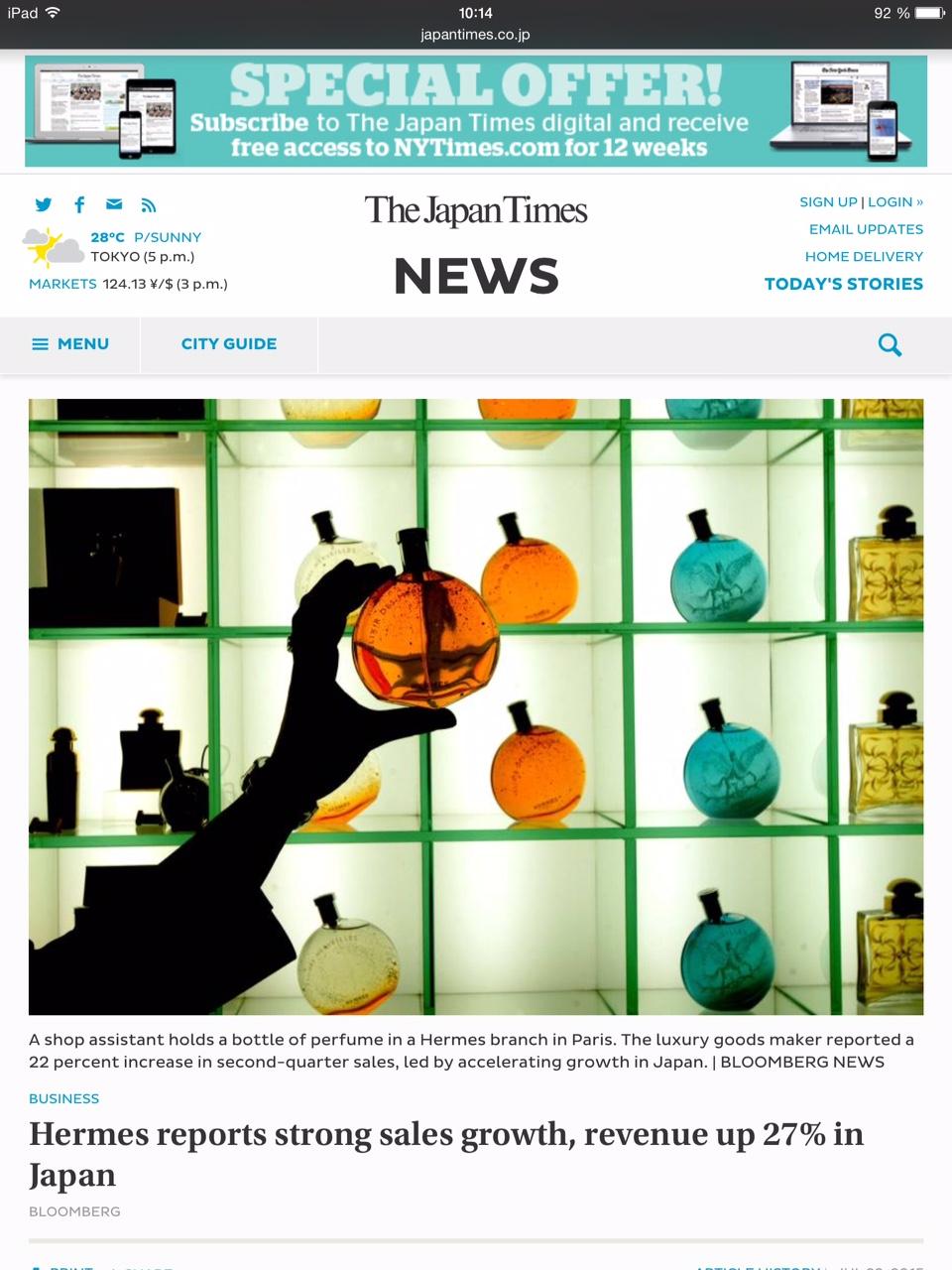 Copie d'écran du Bangkok Post