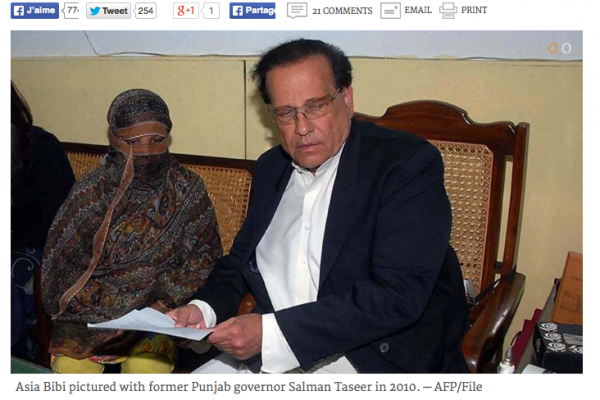 Copie d'écran du quotidien Dawn