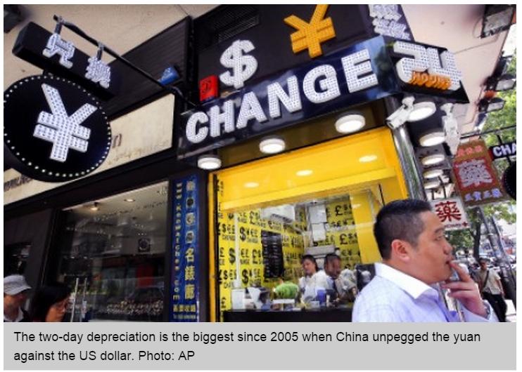 Copie d'écran du South China Morning Post, le 12 août 2015.