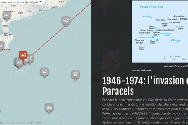 Copie d'écran de notre infographie pour tout comprendre de l'histoire et l'actualité des îles Paracels, en mer de Chine du Sud