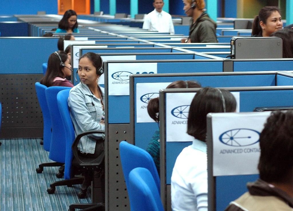 Centre d'appel à Manille le 31 octobre 2007