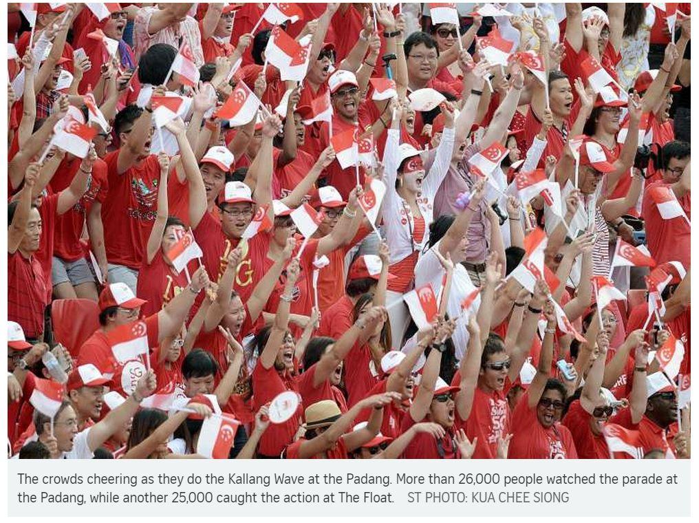 Copie d'écran du Straits Times, le 10 août 2015