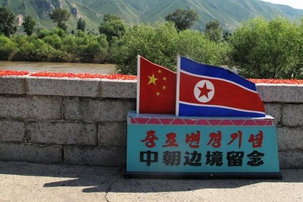 Le long de la rivière Tumen, à la frontière entre la Chine et la Corée du Nord. (Copyright : Stéphane Lagarde)