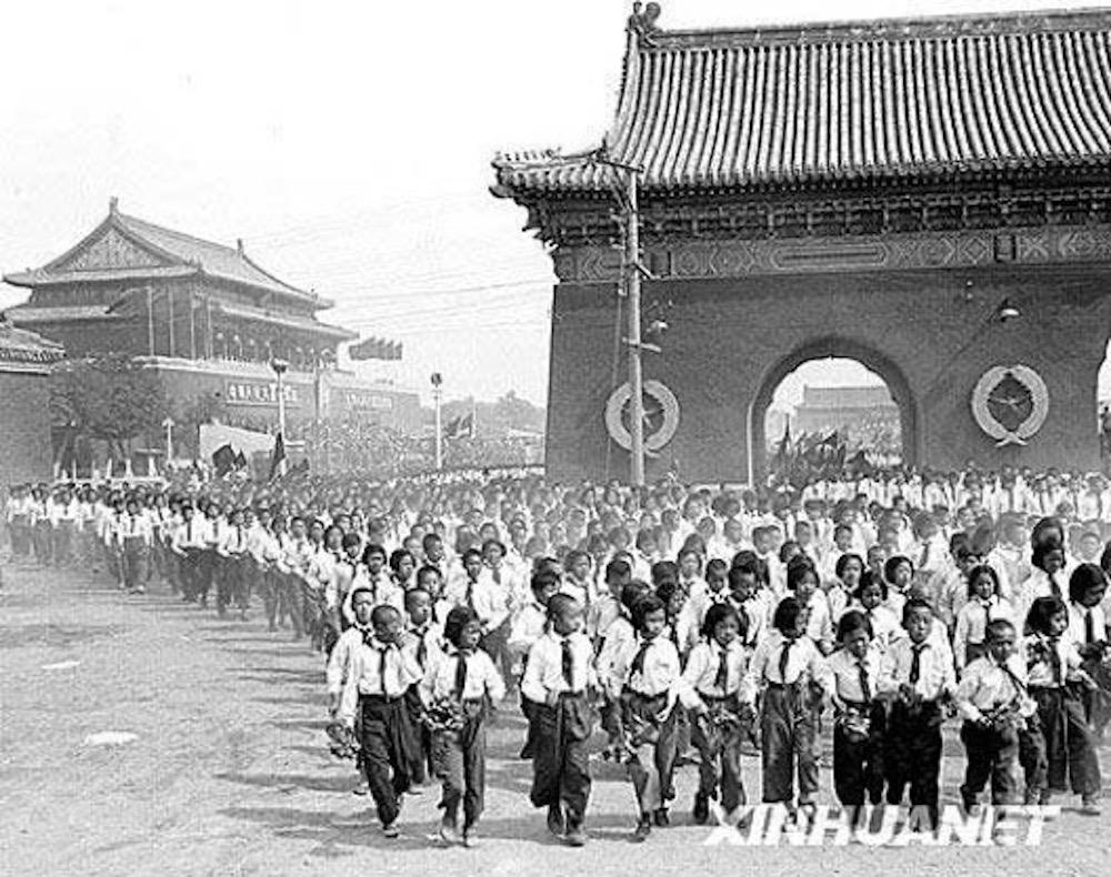 L'avenue Chang'an à Pékin dans les années 1950. (Crédit : DR)