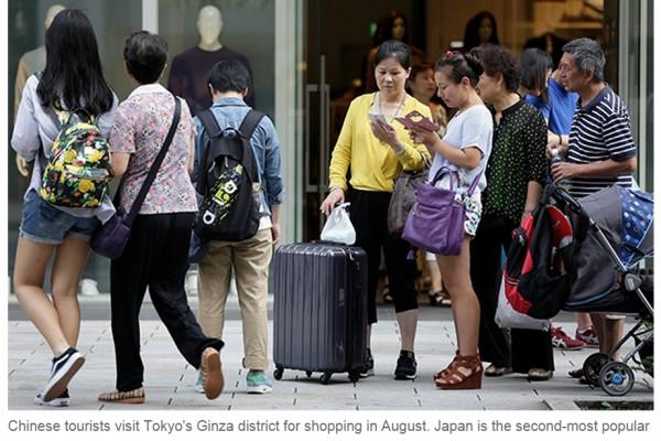 """Les touristes chinois appelés à """"rester civilisés"""". Copie d'écran du China Daily, le 28 septembre 2015."""
