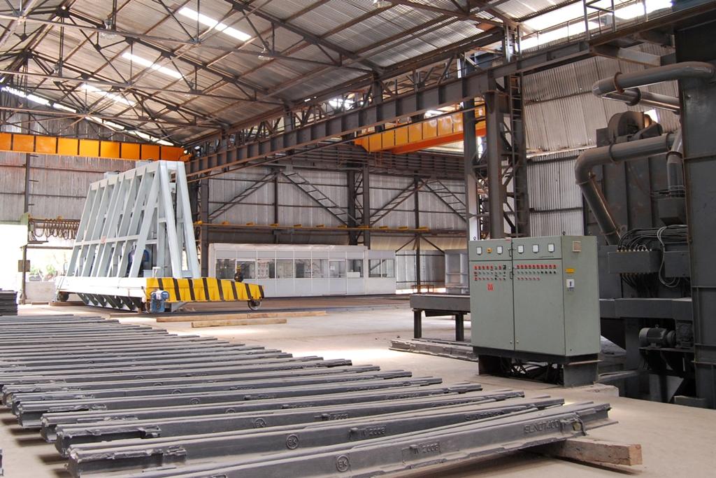 L'usine Vossloh Cogifer en Inde. (Copyright : Vossloh Cogifer)