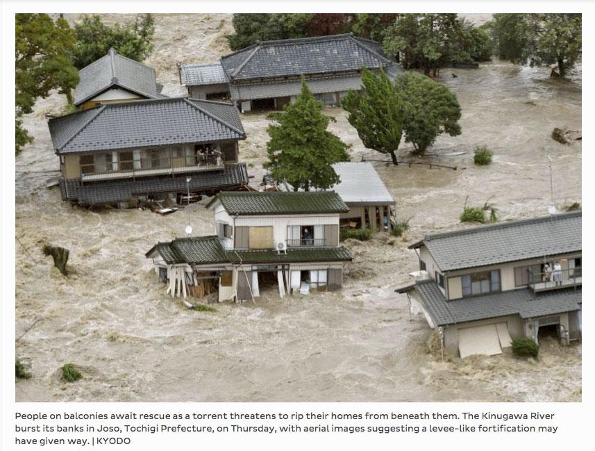 Copie d'écran du site The Japan Times, le 1 septembre 2015.