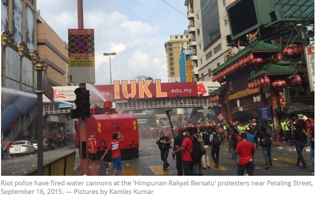 Manifestations tendues à Kuala Lumpur