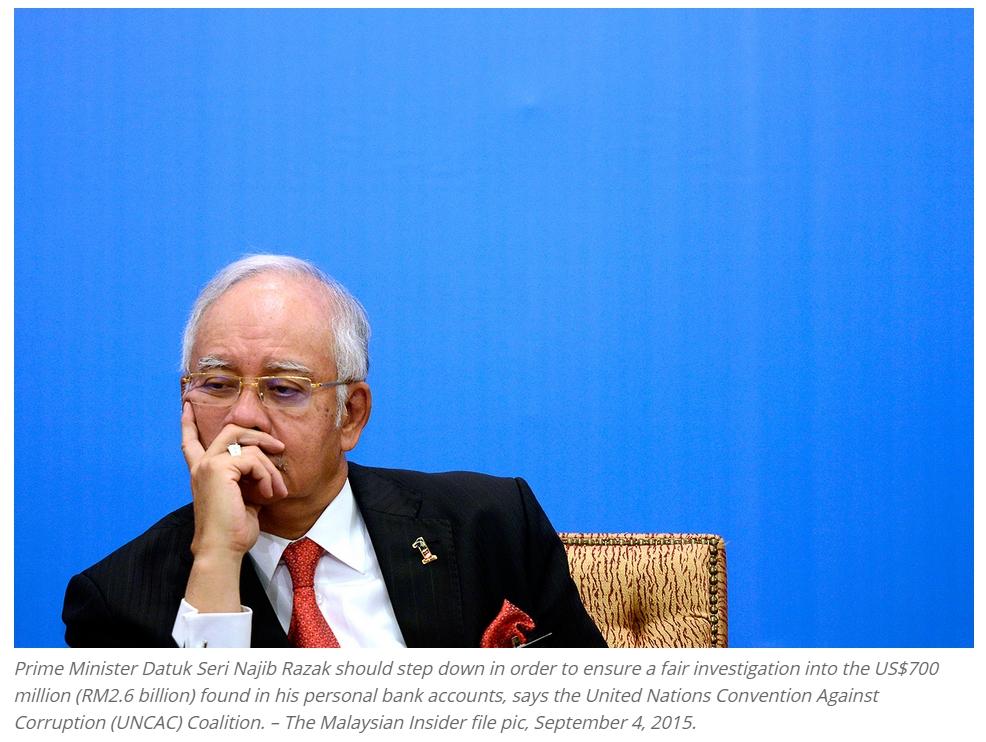 Copie d'écran du Malaysian Insider, le 4 septembre 2015.