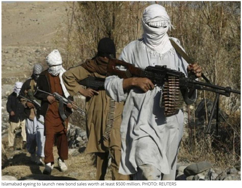 Le coût des attaques des Taliban sur l'économie au Pakistan. Copie d'Ecran du site pakistanais The Express Tribune, le 22 septembre 2015.