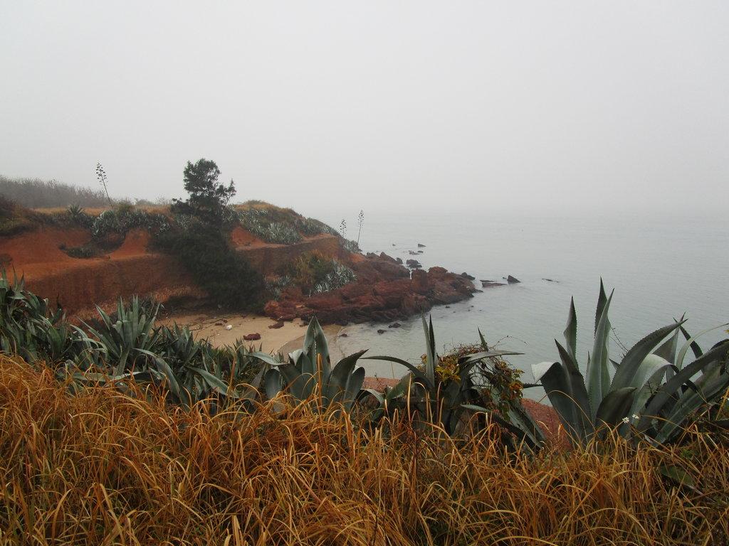 La plage de Guningtou, au nord-ouest de Kinmen, où ont déposé les armes les derniers soldats communistes. (Crédit : Alexandre Gandil, janvier 2015)