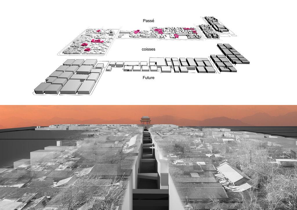 Densification du centre historique de la ville de Anyang, dans la province du Henan (photo 1). (Crédit : Qi Xin Atelier)