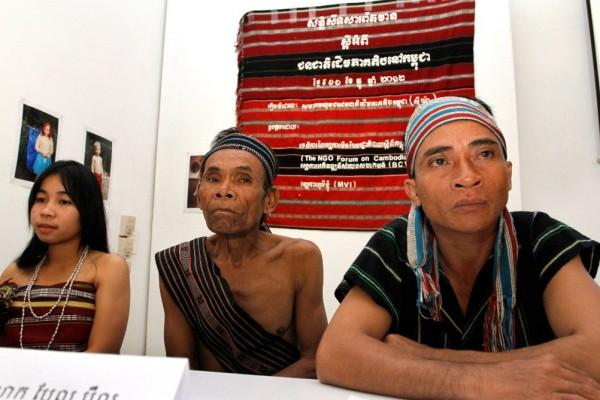 Membres de la minorité Tampoun au Cambodge, le 12 décembre 2012.