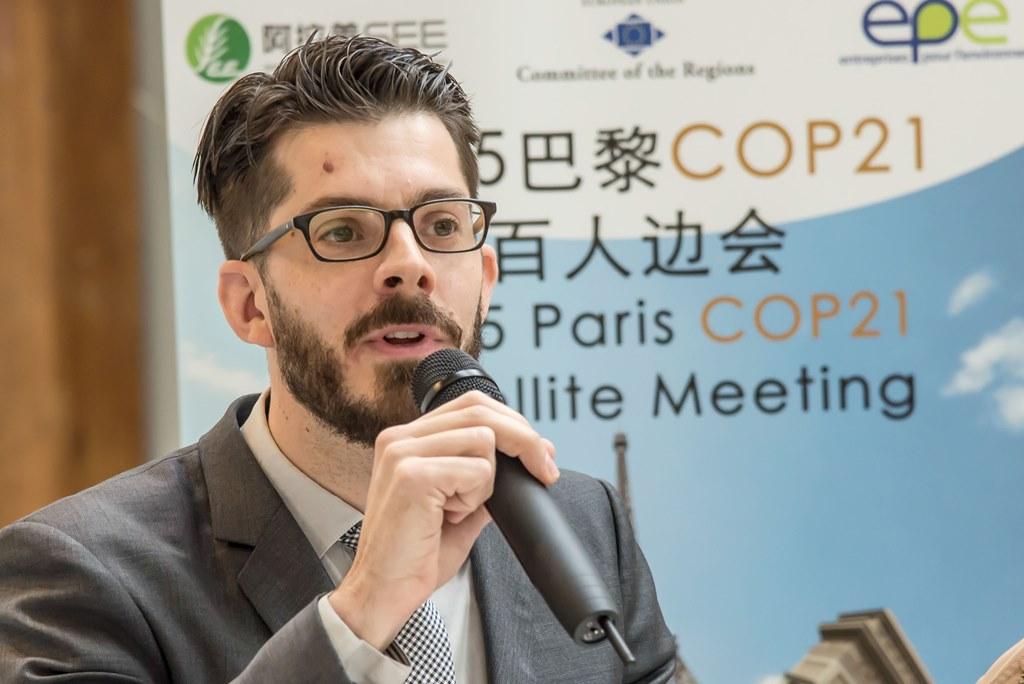 Julien Colas, responsable du pôle énergie-climat de l'association Entreprises pour l'Environnement (EPE), le 2 décembre 2015.