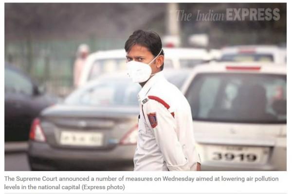 La Cour suprême indienne a pris des mesures drastiques pour réduire la pollution à New Delhi.