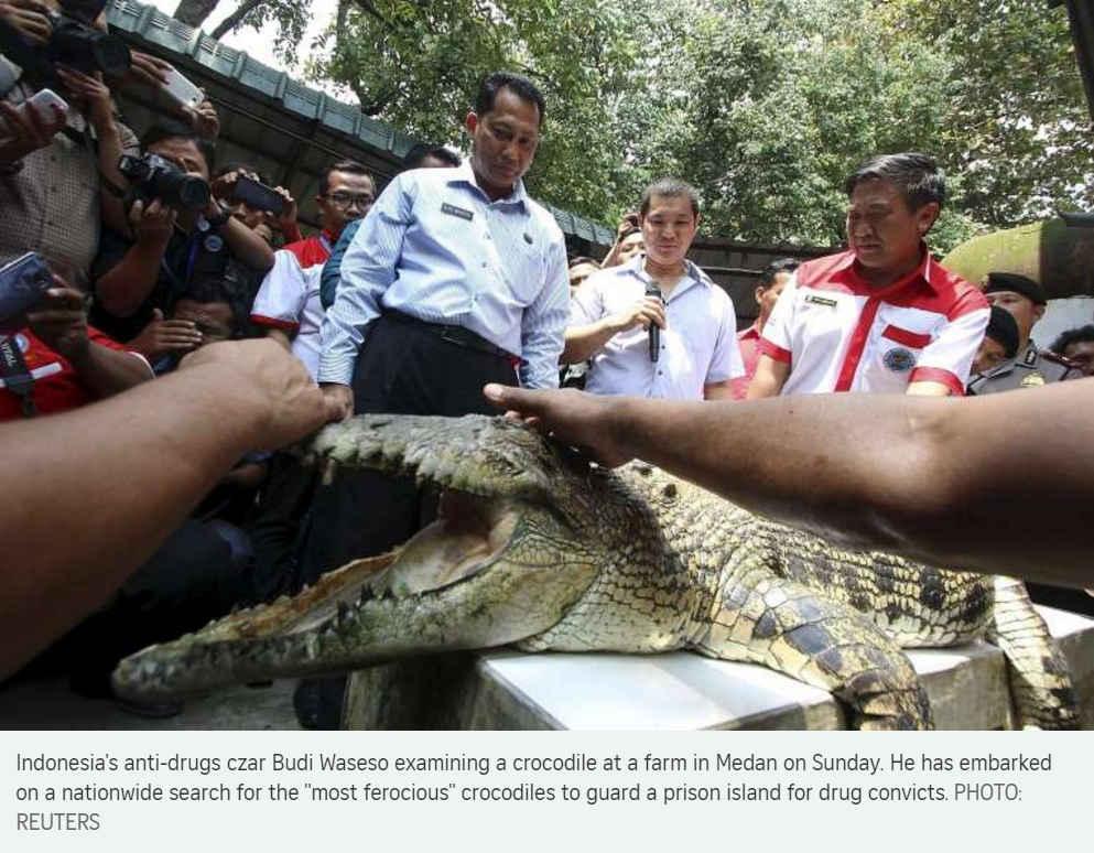 Le chef de l'Agence indonésienne des Stupéfiants caste ses futurs gardiens de prison