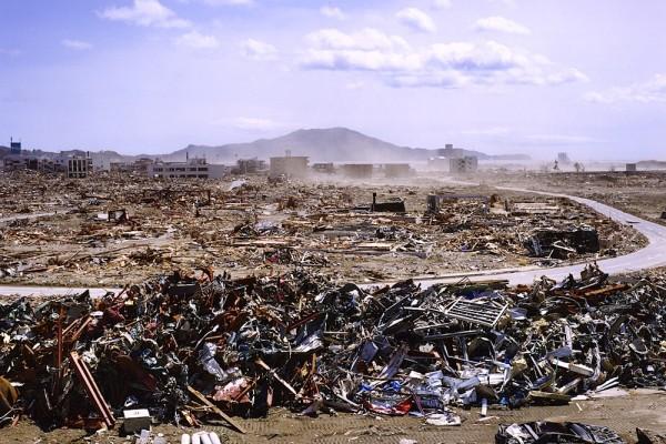 Dans le quartier de Baba, village de Takata-cho Baba, commune de Rikuzentakata, le 2 mai 2011.