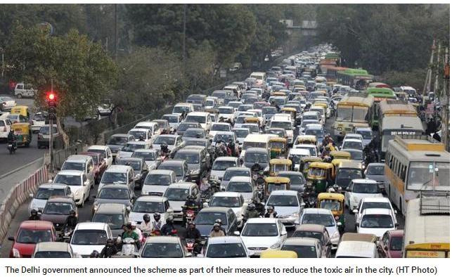 New Delhi veut réduire drastiquement le nombre de voitures en circulation chaque jour.