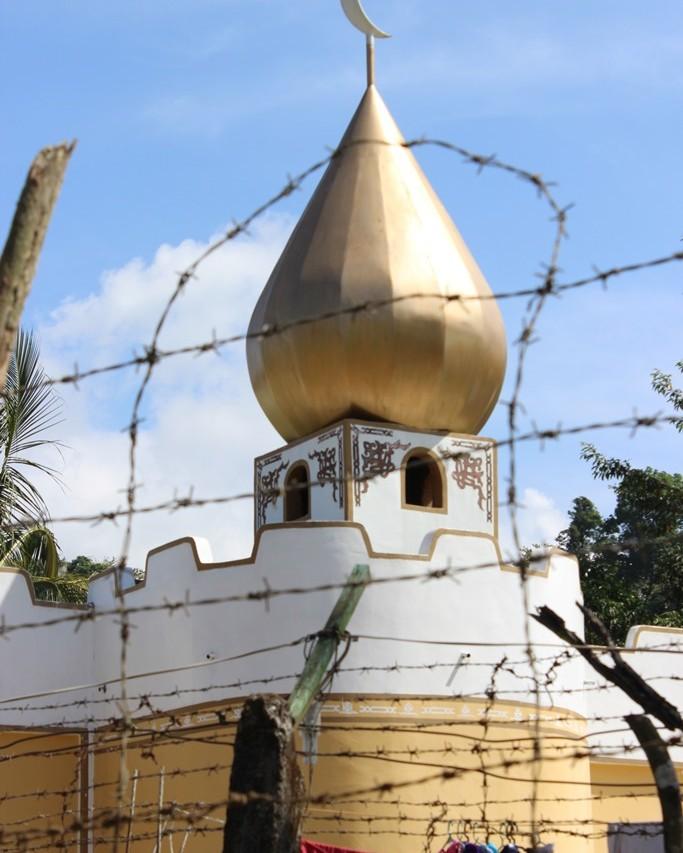 La mosquée du quartier de haute sécurité de Sablayan où sont confinés les détenus les plus dangereux.