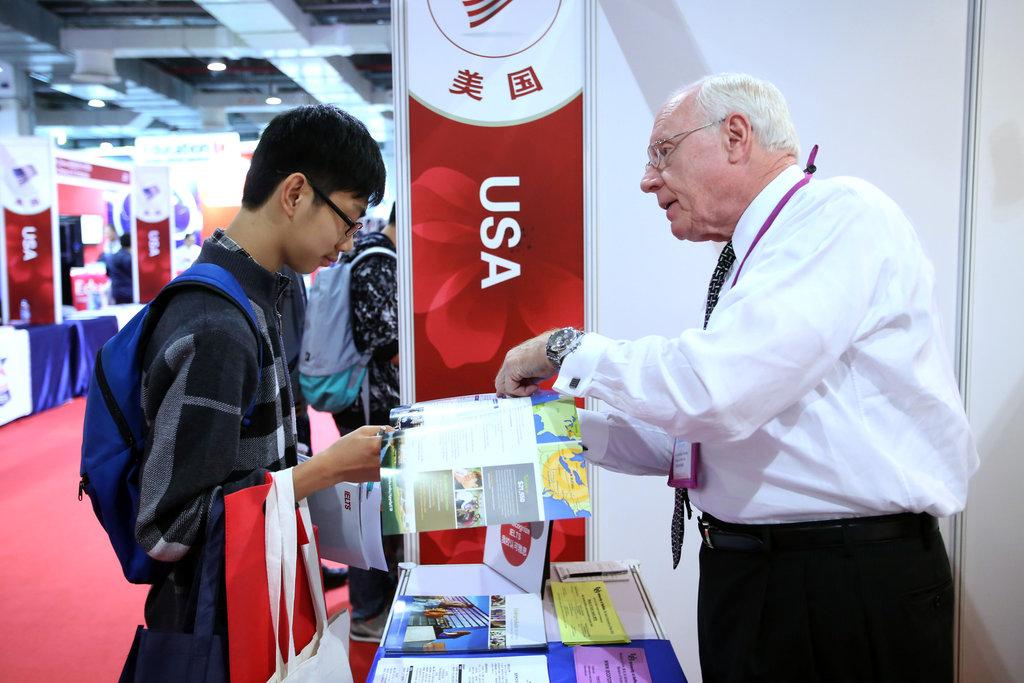 A la China Education Expo (CEE) du 1er novembre 2015 de Shanghaï