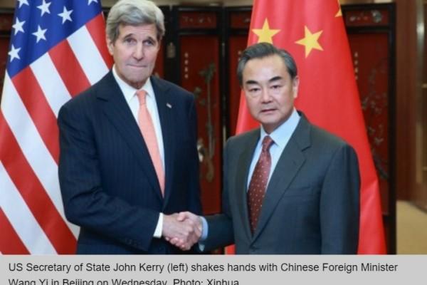 Le secrétaire d'Etat américain John Kerry achève son tour du monde diplomatique par la Chine, où il a insisté sur les dossiers nord-coréen et de la mer de Chine du Sud.