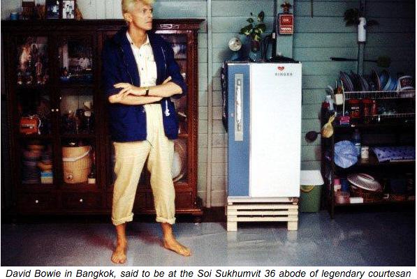 David Bowie à Bangkok en 1983.