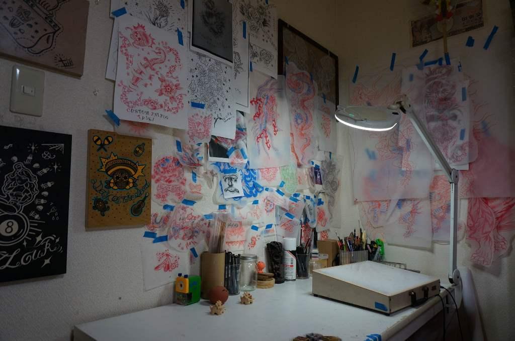 Studio du tatoueur Taiki Masuda à Suita (département d'Osaka)