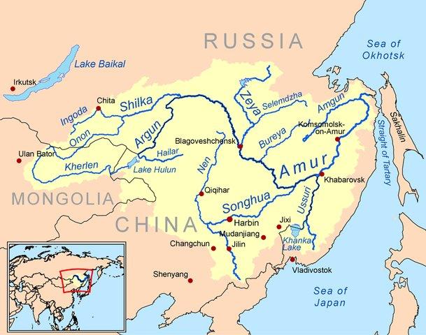 carte de L'espace eurasien en question.