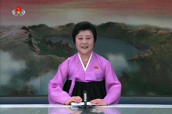 La présentatrice de la télévision nationale nord coréenne