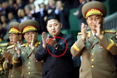 Kim Jung-un arbore une montre de luxe un jour de parade