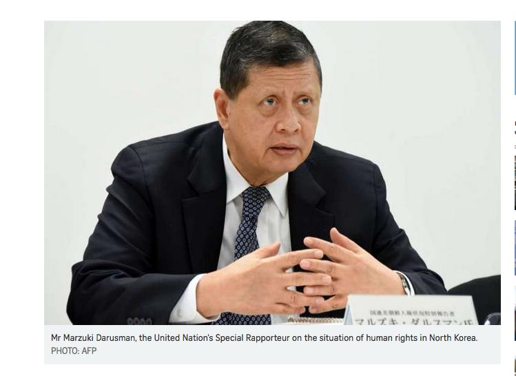 Le Docteur Marzuki Darusman, envoyé spécial des Nations Unis pour les droits de l'homme en Corée du Nord.